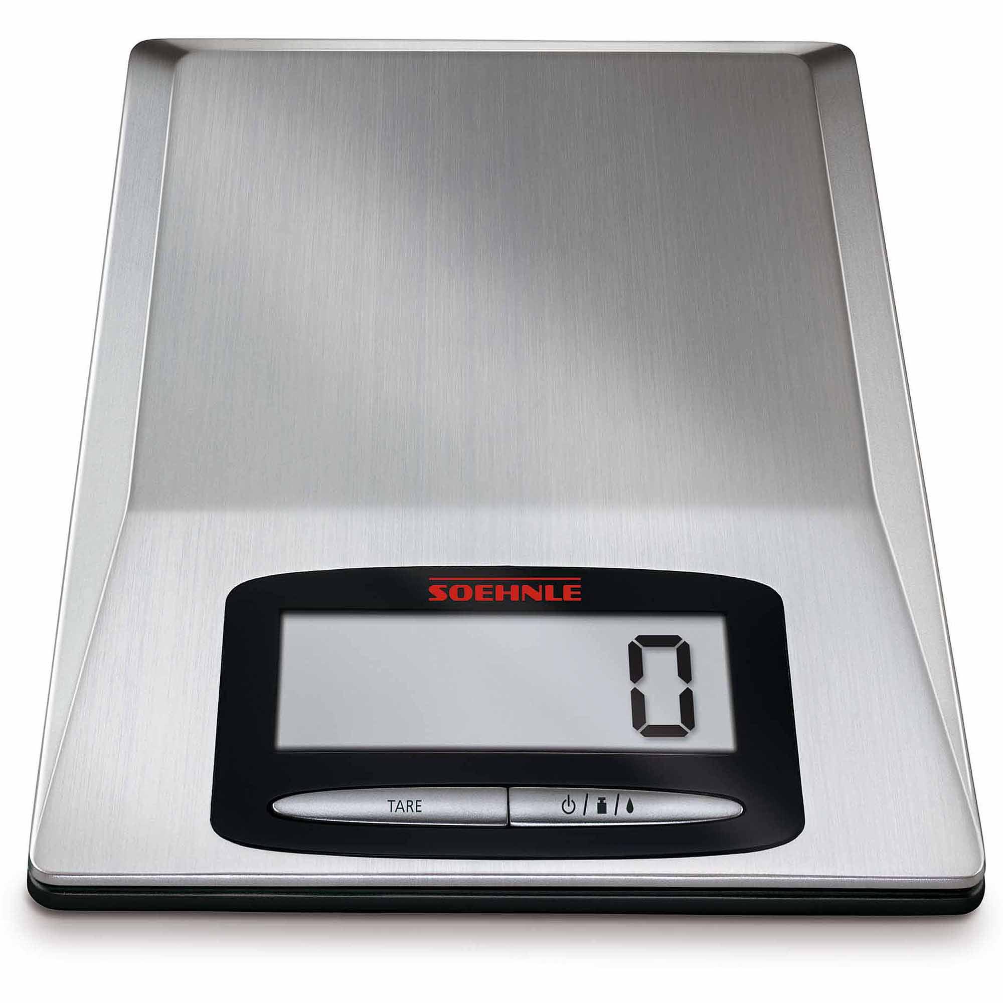 Soehnle OPTICA Precision Digital Food Scale, 9 Lb Capacity, Silver    Walmart.com