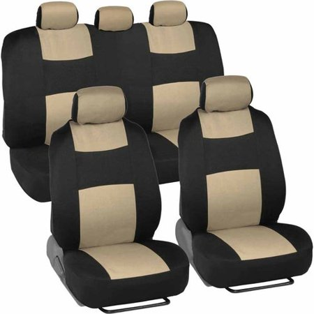BDK Universal Full Set of Deluxe Low Back Car Seat Covers, Universal Fit for Car, Truck, SUV or