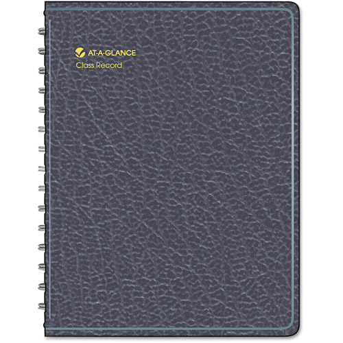 "AT-A-GLANCE Recycled Class Record Book, 10-7/8"" x 8-1/4"", Black"