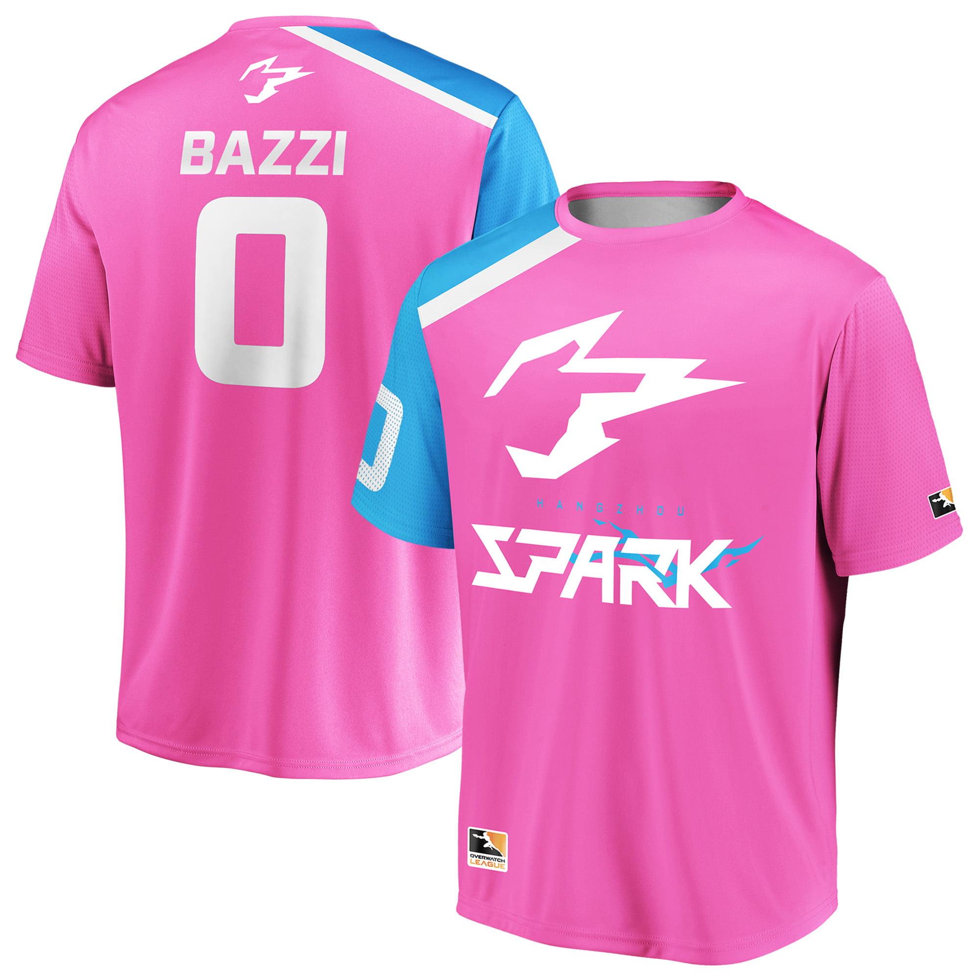 Bazzi Hangzhou Spark Overwatch League Replica Home Jersey - Pink