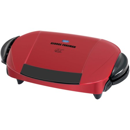 George foreman 5 serving grill with removable plates red - George foreman replacement grill plates ...