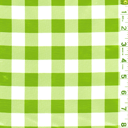 - Green Check Oilcloth, Fabric By the Yard