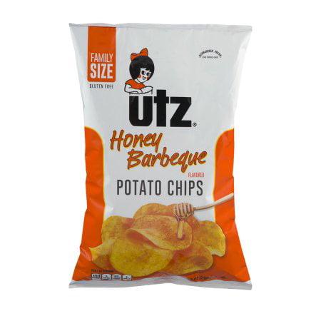Supplier Generic Utz Honey Barbeque Potato Chips Gluten Free, 1 oz