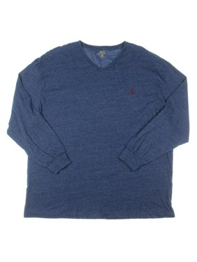 917a0865 Product Image Polo Ralph Lauren Mens Big & Tall Heathered Long Sleeve  T-Shirt