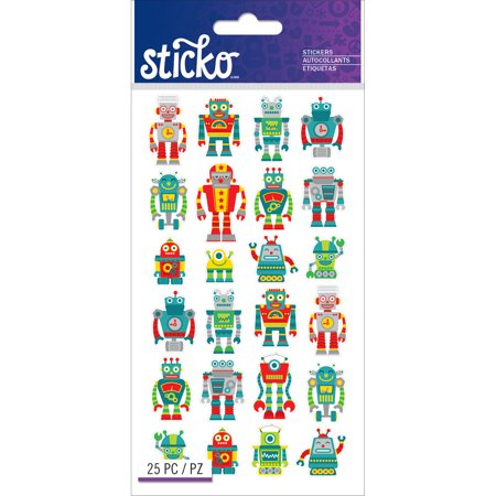Sticko Stickers-Mini Robots