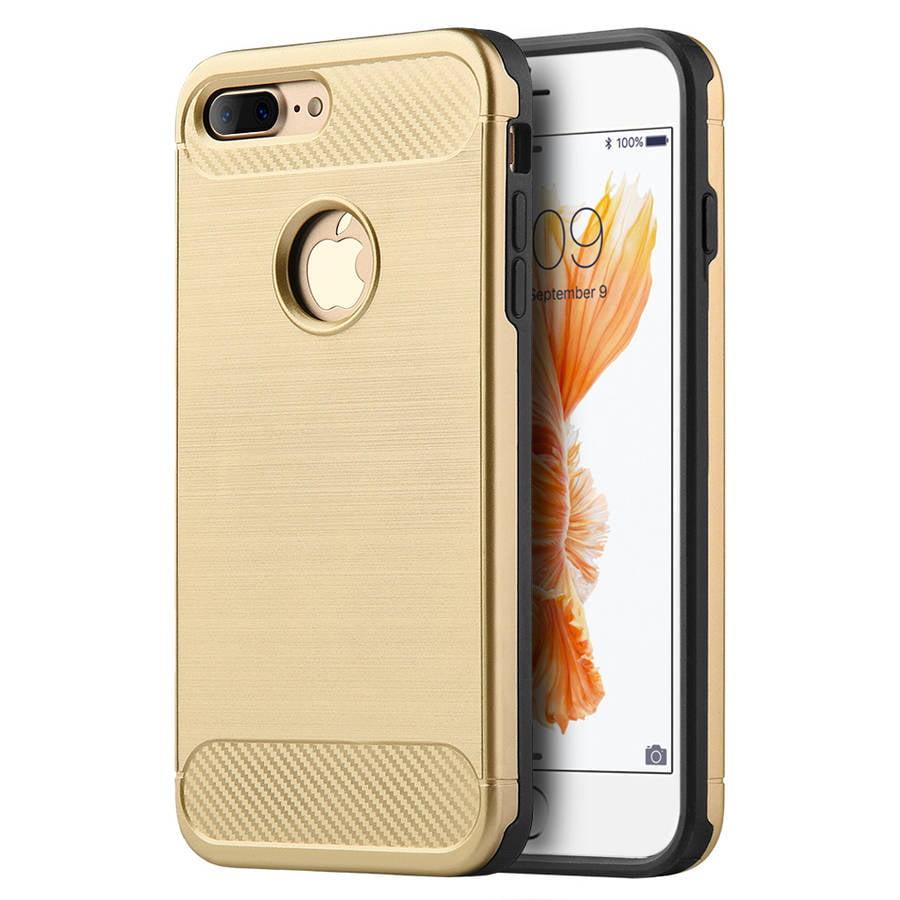 Apple iPhone 7 Plus Carbon Tech Silk Hybrid Cover Case, Gold