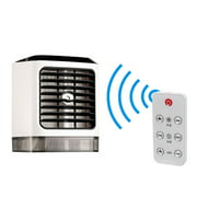 New Arrival 1PC Air Conditioner Desktop Air Conditioning With Remote Control Air Cooler Fan Humidifier Mini Air Cooling Fan black and white