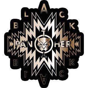 Black Panther Gold Logo - Marvel Comics Artwork Vinyl Stickers, 3.6