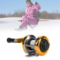FAGINEY Portable Winter Ice Fishing Reel Wheel with Wire Outdoor Casting Tackle, Ice Fishing Wheel, Fishing Wheel