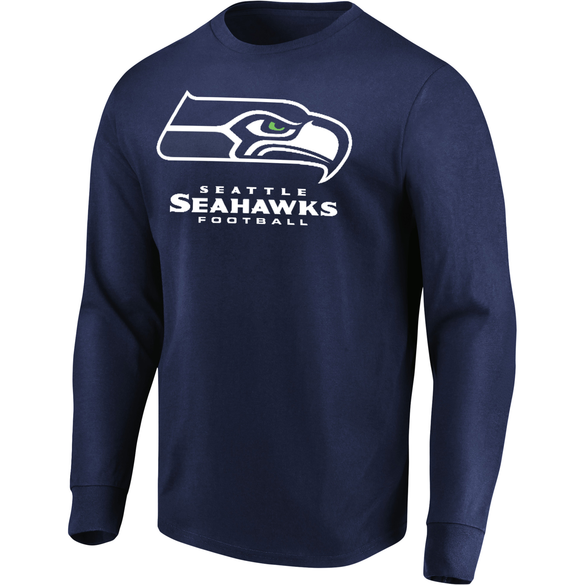 Men's Majestic College Navy Seattle Seahawks Our Team Long Sleeve T-Shirt