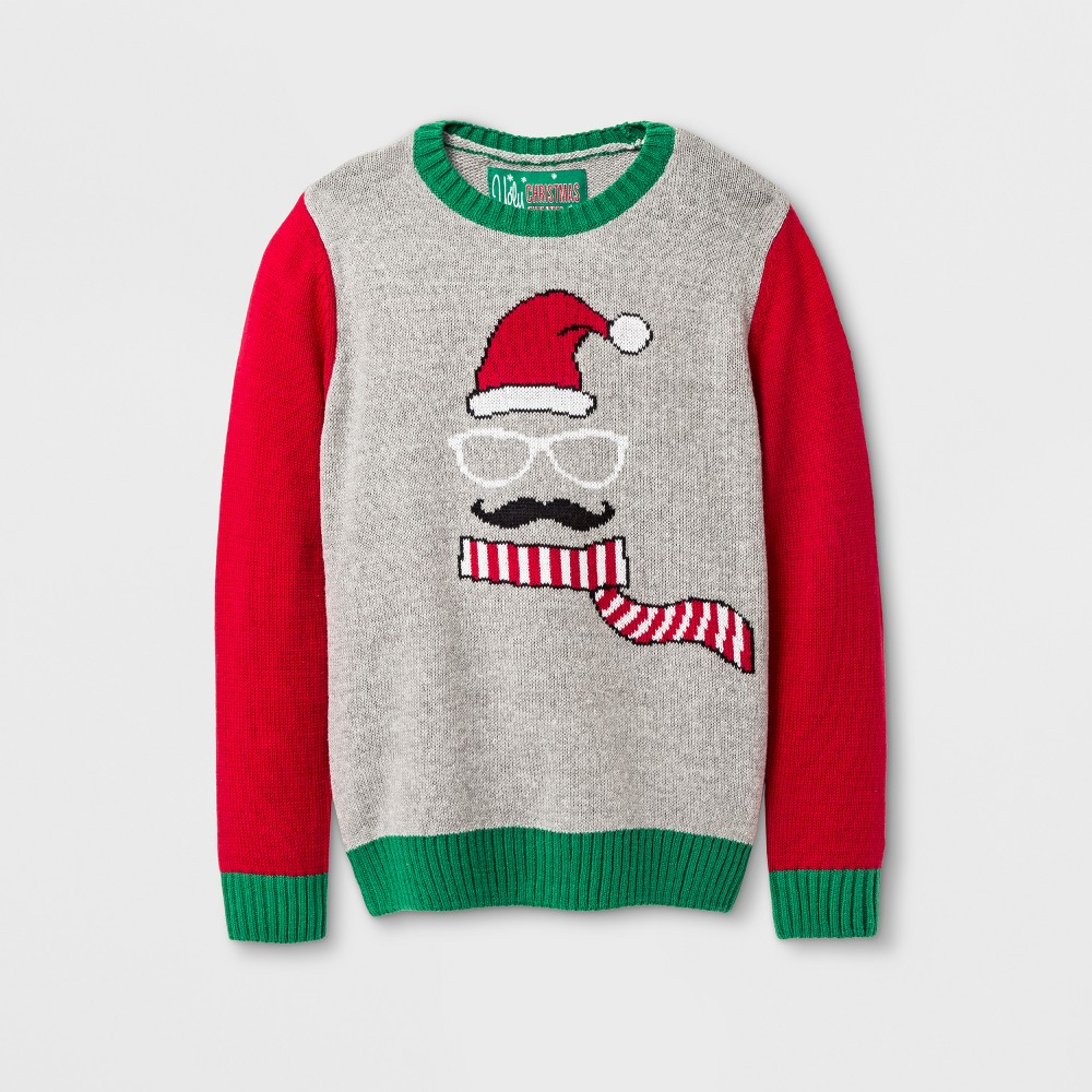 Boys Pullover Sweaters Ugly Christmas Sweater Gray 6 7 Walmartcom
