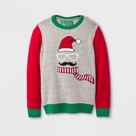 Boys' Pullover Sweaters - Ugly Christmas Sweater Gray 6-7