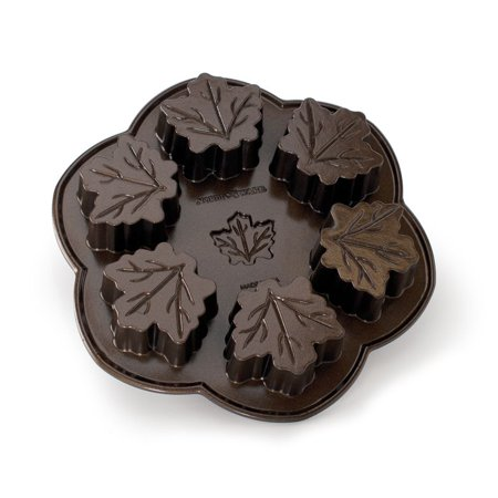 Nordic Ware Maple Leaf Pan - Bacon Maple Cupcakes