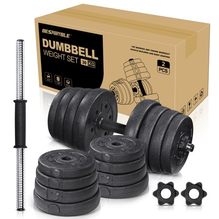Dumbbells Weight Sets Adjustable 66LB/30kg Dumbbells Non-slip Gym Home Fitness Exercise Training Dumbbells