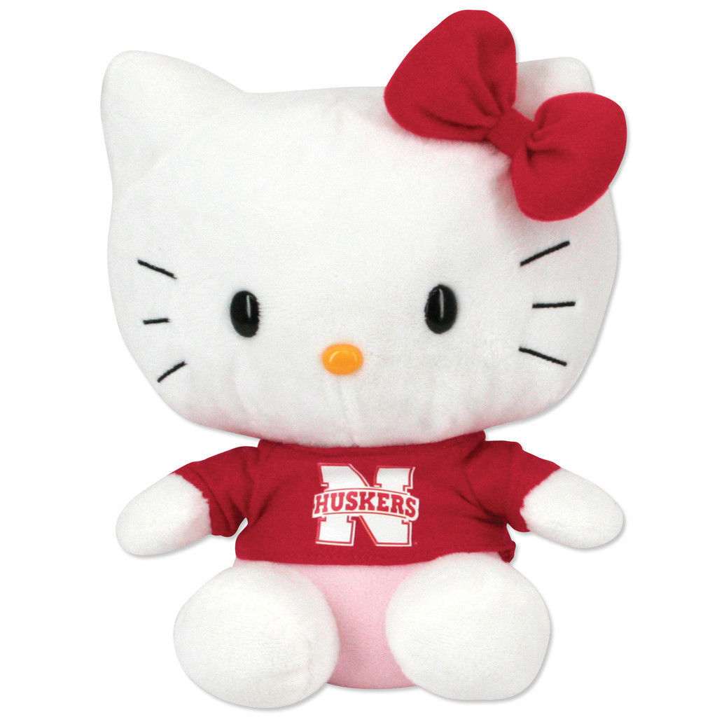 Hello Kitty Goes to College Nebraska Cornhuskers Plush Toy