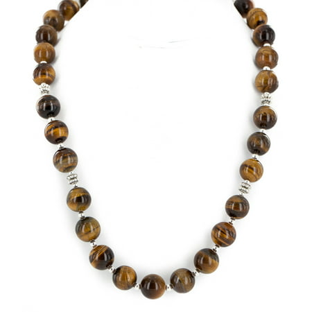 Certified Authentic Navajo Natural Tigers Eye Native American (Oval Tigers Eye Necklace)