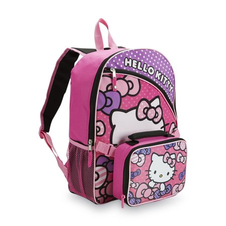 66e99a4e1 Sanrio - Hello Kitty Backpack & Lunch Bag Travel School Day Back Pack -  Walmart.com