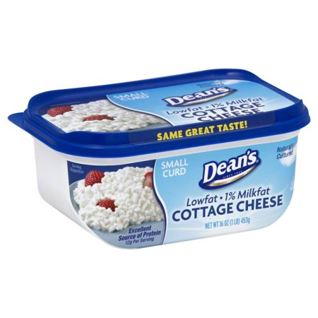 Deans 1 Milkfat Small Curd Cottage Cheese 16 Oz