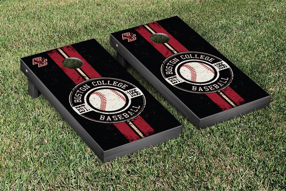 Boston College Eagles Regulation Cornhole Game Set Baseball Vintage Version by Victory Tailgate
