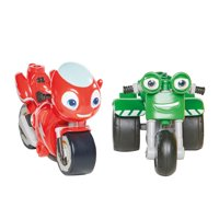 Ricky Zoom & DJ 2 Pack – 3-inch Action Figures – Free-Wheeling, Free Standing Toy Bikes for Preschool Play