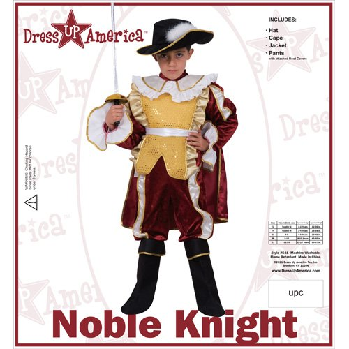 Maroon Noble Knight - Large 12-14