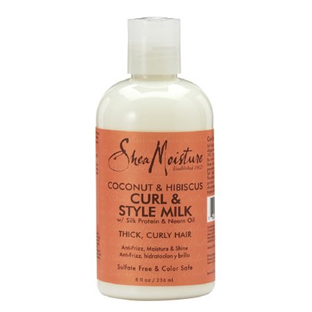 Shea Moisture Curl And Style Milk Nourishing Cream, Coconut And Hibiscus - 8 Oz