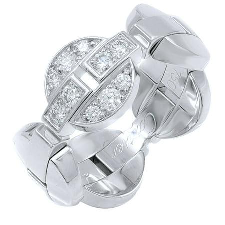 Cartier Himalia 18K White Gold Diamonds Ring SZ 6 0.30cts