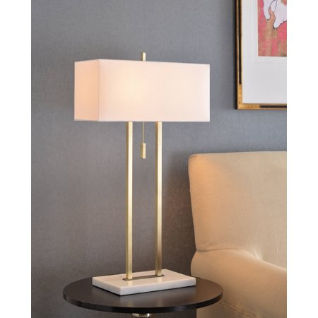 Emilio Antique Brass with Marble Table Lamp