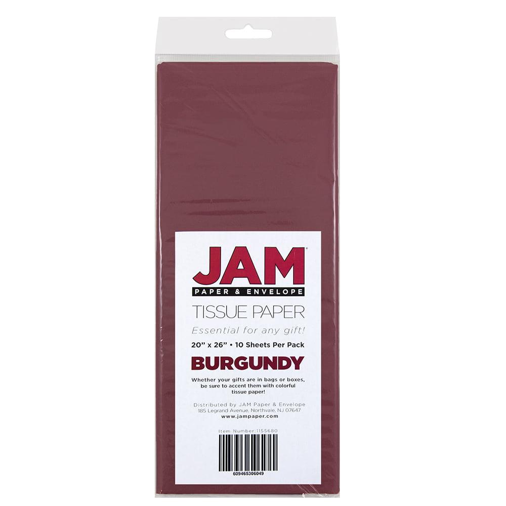 JAM Paper Tissue Paper, Burgundy, 10 Sheets/pack - Walmart.com