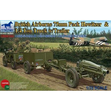 British Airborne 75mm Pack Howitzer & 1/4 Ton Truck w/Trailer - Pack Howitzer