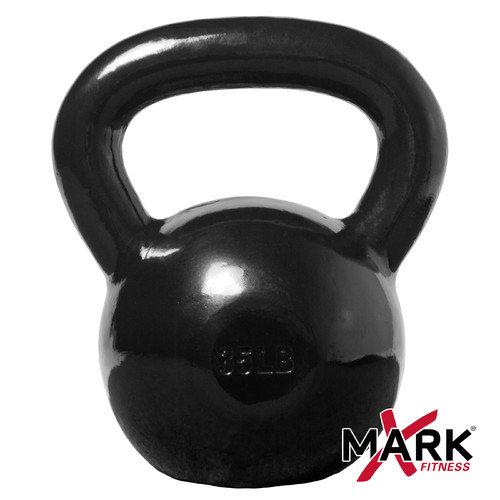 X-Mark 35 lb. Black Cast Iron Kettlebell