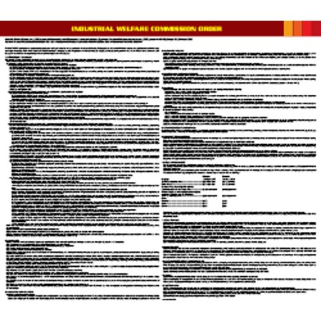Compliance Assistance: Connecticut Mercantile Trade Wage Order Poster- Up to Date, Thick Lamination, Compact, OSHA Compliant (Shipping Dates For Order)