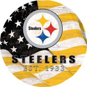 "Pittsburgh Steelers 12"" Team Color Flag Sign"