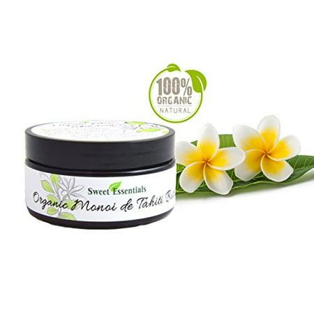 Organic Monoi de Tahiti Butter - 100% Pure Monoi Butter - Large 8oz Jar - Imported From Tahiti | Perfect for Hair, Skin & Nails | Moisturizing - Hydrating - (Skin Import)