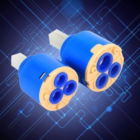 35/40mm Ceramic Cartridge Water Mixer Tap Inner Control Faucet Valve PP Plastic Blue Practical, faucet valve, tap cartridge