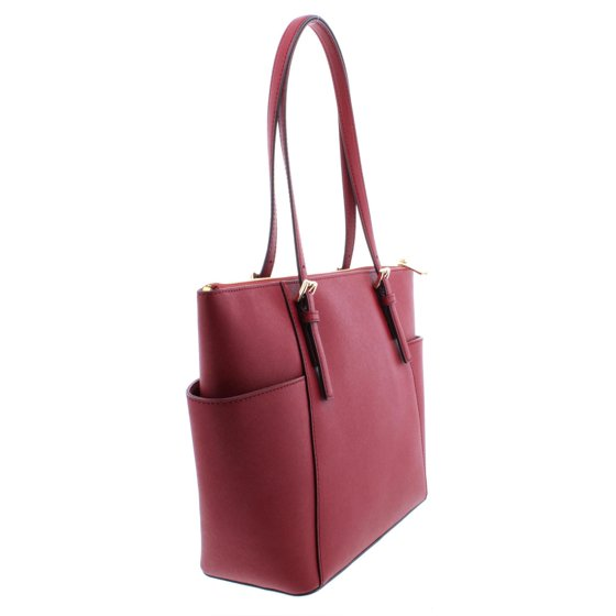 39d427ceb6a95 Michael Kors - Michael Kors Jet Set Top-Zip Saffiano Leather Tote ...