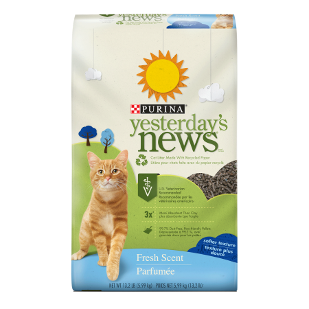 Purina Yesterday's News Fresh Scent Cat Litter - 13.2 lb. Bag