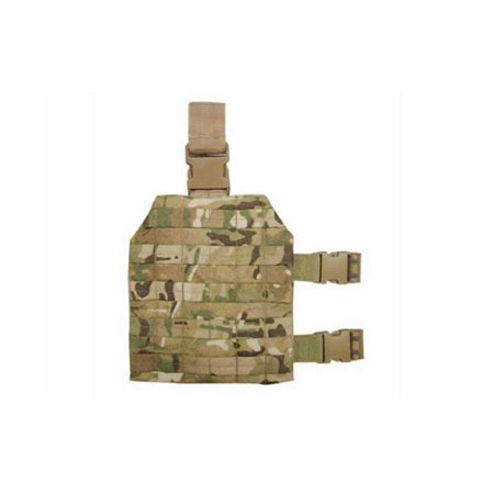 Tactical MOLLE Drop Leg Platform, Multicam Camo, UNIVERSALLY EFFICIENT: Whether you