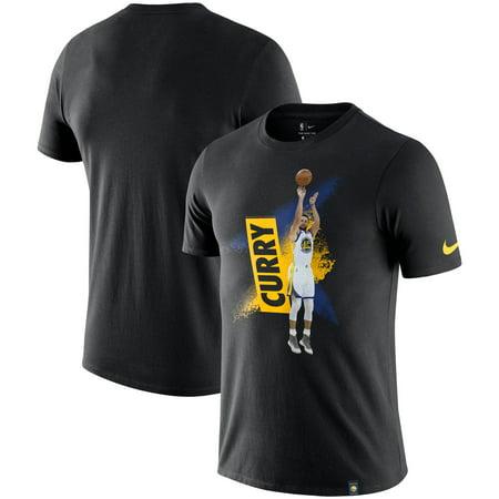 wholesale dealer e3a4e b8d8f Stephen Curry Golden State Warriors Nike Mezzo Player Performance T-Shirt -  Black