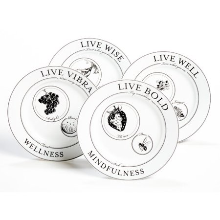 (Livliga Celebrate Portion Control Plate Setting, Service for 4 (Set of 4))