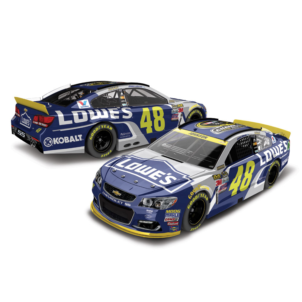 Jimmie Johnson Action Racing #48 Lowe's 2016 Sprint Cup Champion 1:24 Die-Cast Chevrolet SS - No Size