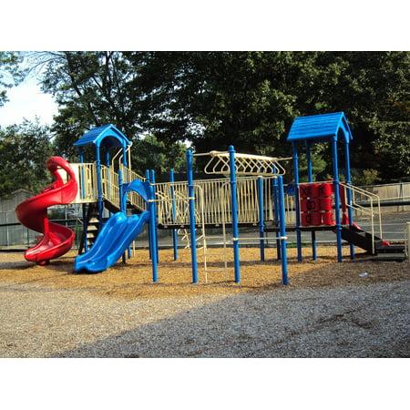 LAMINATED POSTER Park Slide Playground Childhood Equipment Poster Print 24 x 36 ()