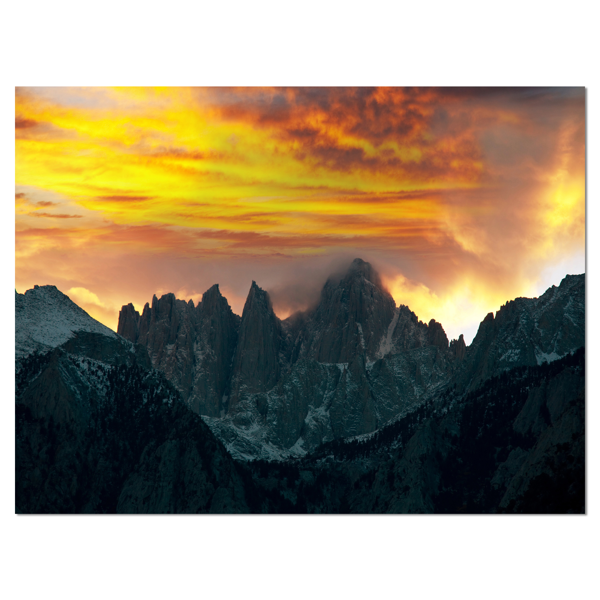 Whitney Mountains under Cloudy Sky - Oversized Landscape Canvas Art - image 2 of 3