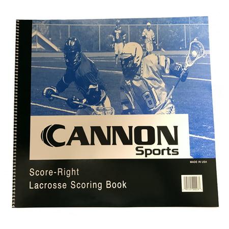 Cannon Sports Men's Lacrosse Scorebook