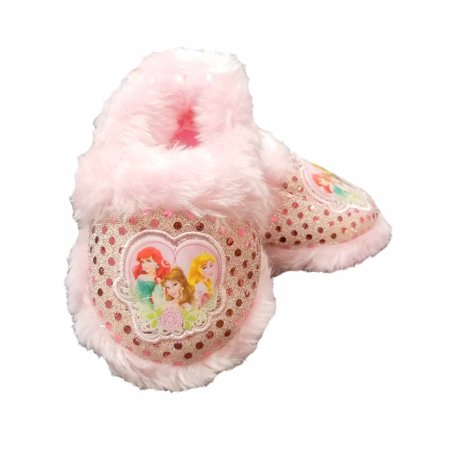 Disney Princess Pink Toddler Girls Glitter Slippers Loafer House Shoes S 5-6](Disney Slippers)