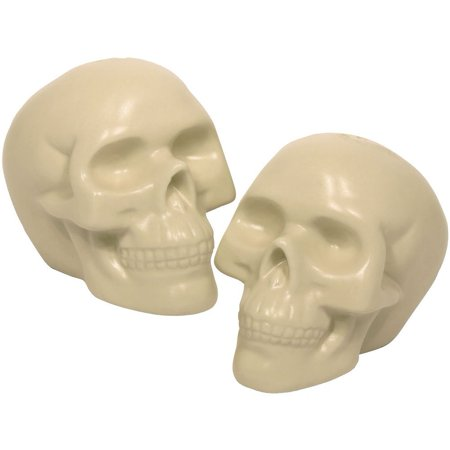 White Skull Salt and Pepper Shakers