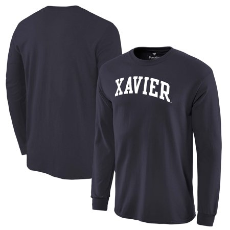 Xavier Musketeers Fanatics Branded Basic Arch Long Sleeve Expansion T-Shirt - Navy