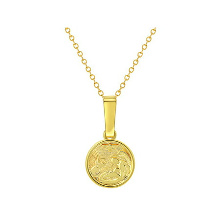 18k Gold Plated Guardian Angel Medal Necklace Newborn Baby Infant Birth Gift 16