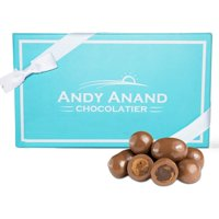 Andy Anand Milk Chocolate Covered Cappuccino Biscotti Gift Boxed & Greeting Card 1lb, Delicious, Succulent & Crunchy, Birthday, Valentine's Day, Christmas, Holiday Food Gifts, Mothers Day, Get Well