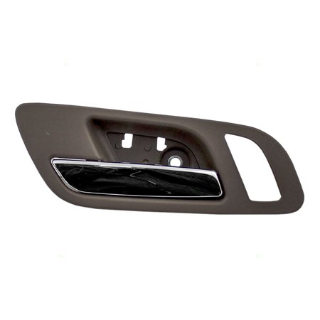 Replacement Door Skins (Drivers Front Inside Interior Door Handle Chrome Lever w/ Cashmere Housing Replacement for GMC Cadillac Chevy Pickup Truck SUV 22855617 )
